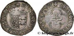 NAVARRE - KINGDOM OF NAVARRE - HENRI OF ALBRET Blanc AU