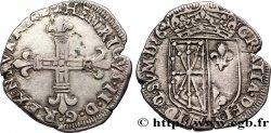 NAVARRE-BÉARN - HENRI III DE NAVARRE, II DE BÉARN Quart décu de Navarre