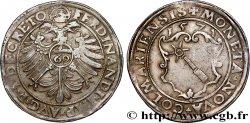 ALSACE - COLMAR - VILLE DE COLMAR - FERDINAND Ier Florin d'argent ou pièce de 60 kreuzers
