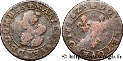 PRINCIPAUTY OF DOMBES - MARIE OF BOURBON-MONTPENSIER Double tournois VG