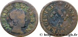 ARDENNES - PRINCIPAUTY OF ARCHES-CHARLEVILLE - CHARLES II OF GONZAGUE Denier tournois, type 3