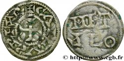 POITOU - COUNTY OF POITOU - COINAGE IMMOBILIZED IN THE NAME OF CHARLES II THE BALD Denier