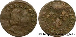 PRINCIPALITY OF ORANGE - WILLIAM-HENRY OF NASSAU Denier tournois, type 4 VF