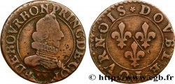 PRINCIPALITY OF CHATEAU-REGNAULT - FRANCIS OF BOURBON-CONTI Double tournois, type 8 VF/VF