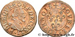PRINCIPAUTY OF CHATEAU-REGNAULT - FRANCOIS OF BOURBON-CONTI Double tournois, type 14, buste A