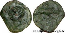 GALLIEN - SANTONES / MITTELWESTGALLIEN - Unbekannt Bronze ANNICCOIOS (quadrans) au sanglier
