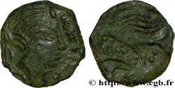 GALLIEN - CARNUTES (Region die Beauce) Bronze PIXTILOS classe III à l'oiseau et à la main