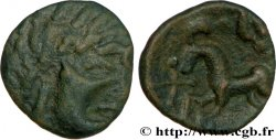 GALLIEN - BELGICA - AMBIANI (Region die Amiens) Bronze au cheval, BN 8430
