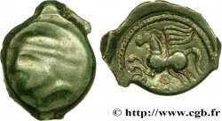 GALLIA BELGICA - SUESSIONES (Area of Soissons) Bronze CRICIRV, barbu