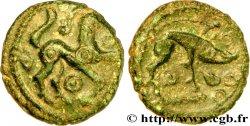 """GALLIA BELGICA - AMBIANI (Area of Amiens) Bronze au cheval et au sanglier, """"type des dépôts d'Amiens"""""""