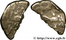 BAÏOCASSES (Région de Bayeux) Statère en bas électrum, coupé en deux