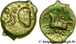 GALLIA BELGICA - SUESSIONES (Area of Soissons) Bronze au cheval et aux annelets
