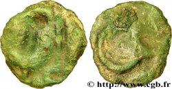 ÉDUENS (BIBRACTE, région du Mont-Beuvray) Potin à l'hippocampe, tête casquée