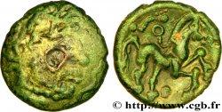 GALLIA BELGICA - AMBIANI (Area of Amiens) Bronze au cheval et à la tête barbue