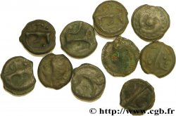 Gaule Belgique / Celtique Lot de 10 potins variés lot