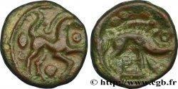 """AMBIANI (Area of Amiens) Bronze au cheval et au sanglier, """"type des dépôts d'Amiens"""" XF"""