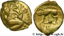 BELLOVAQUES (Région de Beauvais) Bronze au personnage agenouillé et au sanglier