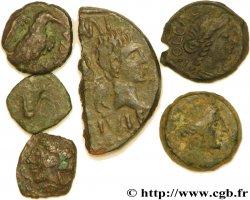 Narbonnaise Lot de six monnaies de bronze