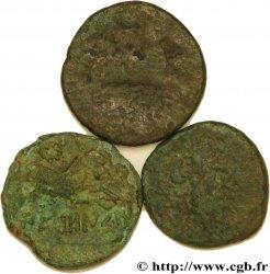 NERONKEN - NÉDÈNES (oppidum de Montlaurès) Lot de trois bronzes