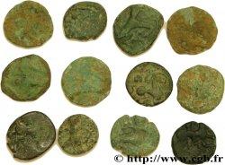 BELLOVAQUES (Région de Beauvais) Lot d'étude - 12 bronzes au personnage courant et assimilés