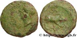 SANTONS / CENTRE-OUEST, Incertaines Bronze ANNICCOIOS (quadrans) au sanglier TTB