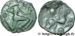 GALLIA BELGICA - BELLOVACI (Area of Beauvais) Bronze au personnage courant et à l'androcéphale