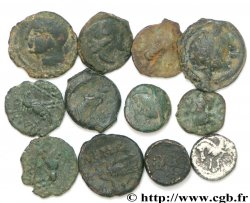 SOUTH-EASTERN OF THE GAULE Lot de 10 petits bronzes, un potin et un denier