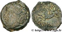 GALLIA - BITURIGES CUBI (Regione di Bourges) Bronze ABVDOS aux trois annelets pointés MB/q.BB