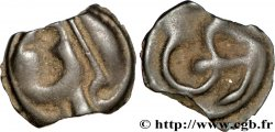 GALLIA - ÆDUI (BIBRACTE, Area of the Mont-Beuvray) Potin à l'hippocampe, tête casquée