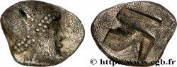 MASSALIA - MARSEILLES Hémiobole au bonnet perlé, tête à droite, du trésor d'Auriol BB