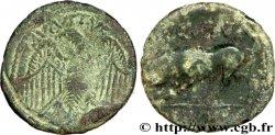CENTRE, INCERTAINES Lot de deux bronzes (semis), au taureau et l'aigle