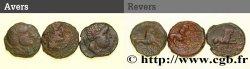 GALLIA - SOUTH WESTERN GAUL - LONGOSTALETES (Area of Narbonne) Lot de 3 bronzes au lion