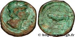 GALLIA BELGICA - REMI (Area of Reims) Bronze GERMANVS INDVTILLI au taureau (Quadrans) VF