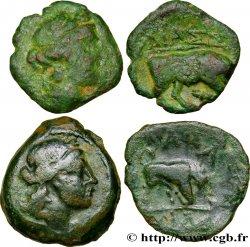 MASSALIA - MARSEILLE Lot de 2 petits bronzes au taureau (hémiobole ?)