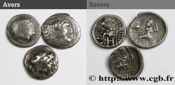 DANUBIAN CELTS - TETRADRACHMS IMITATIONS OF ALEXANDER III AND HIS SUCCESSORS Lot de 3 drachmes, imitation du type de Philippe III