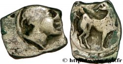 GALLIA - NEDENES (oppidum of Montlaures) Obole au cheval retourné
