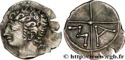 VOLQUES ARÉCOMIQUES (région de Nîmes) Obole au T derrière la nuque, tête à gauche