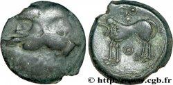 SUESSIONS (région de Soissons) Bronze à la tête janiforme, classe II aux annelets pointés