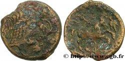 AULERQUES ÉBUROVICES (Région dÉvreux) Bronze à la tête d'Apollon et à la treille de vigne