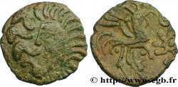 GALLIA BELGICA - BELLOVACI (Area of Beauvais) Bronze au coq à tête humaine XF/AU