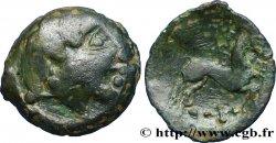 BITURIGES CUBES / CENTRE-OUEST, INCERTAINES Bronze au cheval et à la croisette TB+
