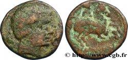 HISPANIA - ILERGETES - ILTIRTA (Province of Lerida) Unité de bronze au cavalier ou as