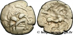 """GALLIA - BAÏOCASSES (Area of Bayeux) Statère d'argent au sanglier, """"style géométrique"""""""