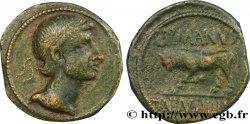 GALLIA BELGICA - REMI (Area of Reims) Bronze GERMANVS INDVTILLI au taureau (Quadrans)
