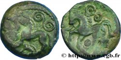 GALLIA - AULERCI EBUROVICES (Area of Évreux) Bronze EPV au cheval et au sanglier enseigne