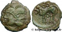 GALLIA BELGICA - SUESSIONES (Area of Soissons) Bronze à la tête janiforme, classe II aux annelets pointés
