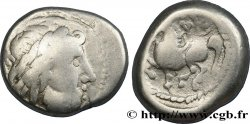 "DANUBIAN CELTS - IMITATIONS OF THE TETRADRACHMS OF PHILIP II AND HIS SUCCESSORS Tétrarachme ""type de Dachreiter"" VF"