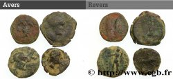 HISPANIA - SPAIN - IBERICO Lot de 4 bronzes celtibères