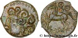 GALLIA - BITURIGES CUBI (Area of Bourges) Bronze ABVDOS aux trois annelets pointés