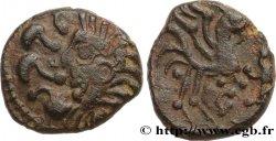 GALLIA BELGICA - BELLOVACI (Area of Beauvais) Bronze au coq à tête humaine